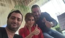 """يارا تتابع تصوير أغنيتها """"مابعرف"""" مع عادل كرم"""