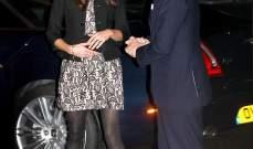 كيت ميدلتون ترتبك من فستانها القصير وتزيد من اشاعات حملها..بالصور