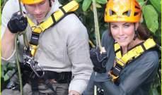 الامير ويليام وكيت يتسلقان شجرة في ماليزيا واسقبال حاشد في جزر سولومون