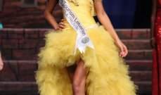نادين عبد العزيز الوصيفة الثانية في مسابقة ملكة جمال السياحة العالمية
