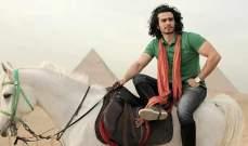 محمد عامر يتدرب على ركوب الخيل استعداداً للملك النمرود