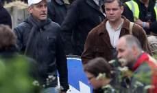 جورج كلوني ومات ديمون يتدربان عسكرياً .. بالصور