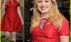 كيلي كلاركسون ترتدي فستانها الأحمر..من أجل مقابلة مع جاي لينو
