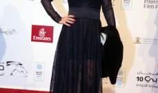 ماغي بو غصن تتألق بفستانها الأسود في مهرجان دبي السينمائي.. بالصور