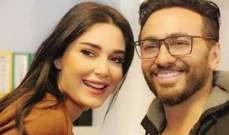 """سيرين عبد النور تعبّر عن إعجابها بفيلم """"أهواك"""" لتامر حسني..بالصورة"""
