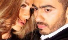 """تامر حسني ينشر صورة جديدة مع نيكول سابا من تصوير """"فرق توقيت"""""""
