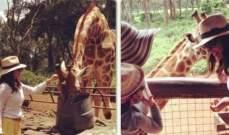 درة تستمتع بأجواء الطبيعة في كينيا.. بالصور