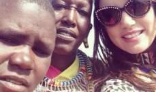 درة تتشارك مع جمهورها مغامراتها في أدغال كينيا.. بالصور