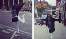 بشرى ترقص في شوارع أوروبا.. بالصورة