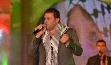 ربيع الأسمر يدعم القضية الفلسطينية في الجزائر