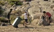 """حملة """" تنظيف الشاطئ """" في مدينة صور"""
