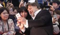 راسل كرو في العرض الأول لفيلمه The Water Diviner في كوريا