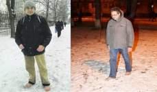 أوكراني يمشي حافياً منذ عشر سنوات