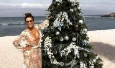 إيفا لونغوريا على الشواطئ في الـ Christmas