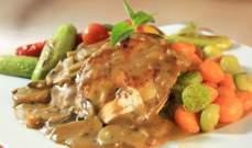 وصفة الدجاج مع صلصة الفطر
