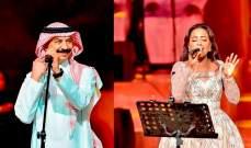 """عبادي الجوهر وداليا مبارك يفتتحان """"ليالي عكاظ"""" الغنائية..بالصور"""