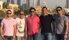 """راغب علامة مع """"شباب العائلة"""" في دبي.. بالصورة"""