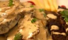 وصفة لذيذة لتحضير ستيك اللحم بصلصة الكريمة والفطر