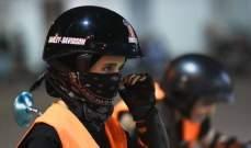 شاهد بالصور: تدريب نساء سعوديات على قيادة الدراجات النارية وهذا ما إرتدته