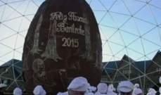 بالفيديو.. 8 طن من الشوكولا لصنع أكبر بيضة في العالم
