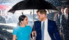 الأمير هاري وميغان ماركل في لقطات ساحرة تحت المطر