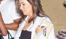 إيفا لونغوريا بفستان أسود شفاف يكشف ملابسها الداخلية.. بالصور