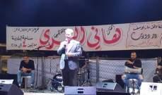 """هاني العمري يحيي مهرجاناً في بلدته """" دير دوريت """""""
