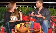 ميشال قزي يؤدي مشهداً تمثيلياً مع رشا الخطيب باللهجة السورية