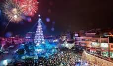 زحلة تلبس حلّة الميلاد- بالصور