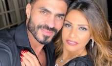 خالد سليم وزوجته في عناق رومانسي-بالصورة