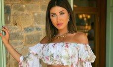 هبة نور تخطف الأنظار بفستانها المورد – بالصور