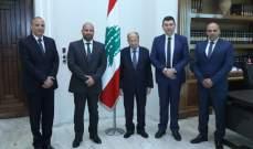 وفد من الجامعة الأميركية في قبرص يزور الرئيس ميشال عون