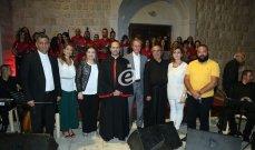"""خاص وبالصور- جوقة """"نسروتو"""" والأب مروان غانم في عيد مار الياس.. تفوُّق بأداء الأغاني اللبنانية الأصيلة والفلكلور"""