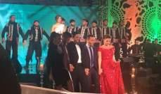 رويدا عطية وهشام الحاج نجما تلفزيون الجديد ليلة رأس السنة