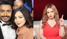"""مي العيدان لـ بسمة بوسيل:""""والله فلوس تامر حسني غيرت و بدلت""""بالصورة"""