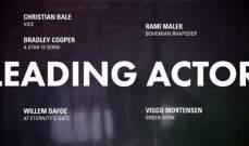 رامي مالك ينافس برادلي كوبر في ترشيحات الأوسكار 2019