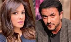 """ياسمين عبد العزيز تغازل أحمد العوضى بعد عرض """"الإختيار"""""""