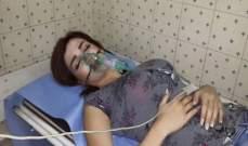 مرح زيتون تنجو من الموت بعد سقوط قذائف صاروخية امامها