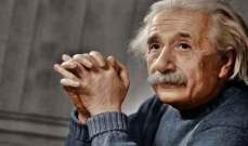بيع رسالة كتبها اينشتاين بـ6100 دولار