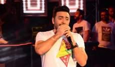 """خاص بالصور- تامر حسني يحتفل بأغنية """"عيش بشوقك"""" قبل طرح ألبومه في حفل كبير في بورسعيد"""