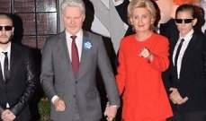 كايتي بيري تتنكر بزي هيلاري كلينتون..وأورلاندو بلوم يتحول إلى دونالد ترامب