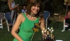 أصدقاء هيدي كرم يفاجئونها بعيد ميلادها.. بالصور