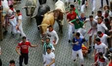 إصابتان في إسبانيا بسبب مهرجان للثيران