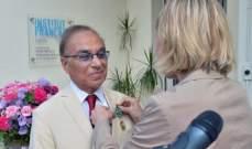 فرنسا تمنح سامي خياط وسام الفنون والآداب من رتبة ضابط