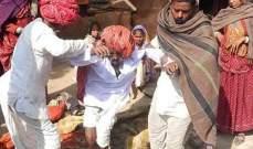 بالصور- هندي نهض قبل لحظات من إحراق جثمانه
