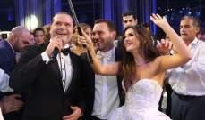 هاني العمري يشعل حفل زفاف ملكة جمال لبنان سالي جريج