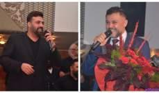 خاص بالصور- ربيع الأسمر وربيع الجميّل يشعلان الأجواء في حفل عيد الحب