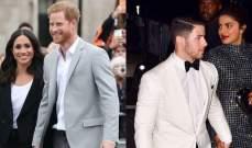 بريانكا شوبرا ونيك جوناس يزوران الأمير هاري وميغان ماركل