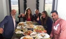 """نيكول سابا تلتقط صورة """"لبنانية"""" في تصوير """"ولاد تسعة"""""""