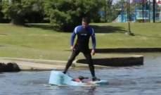 بالفيديو..مهندس أميركي صمم جهازاً لإنقاص الوزن واللياقة البدنية في الماء معاً